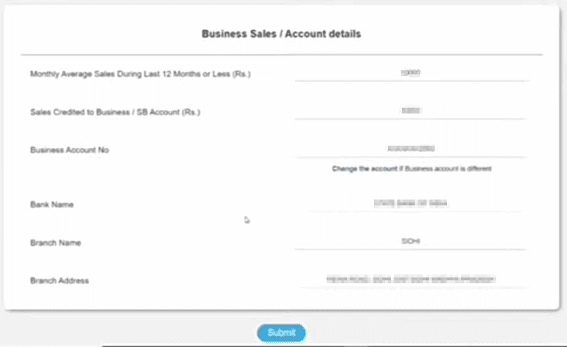 Business details sbi mudra loan