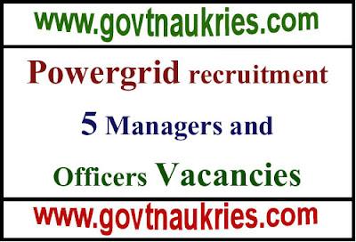 Powergrid corporation of india recruitment 2019