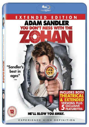 You Dont Mess with the Zohan 2008 BRRip 850MB Hindi Dual Audio 720p Watch Online Full Movie Download bolly4u