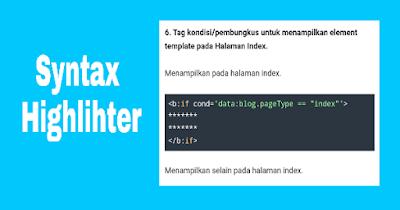 Cara Memasang Pre Seleksi Syntax Highlihter Pada Blogger