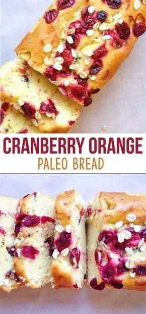 Paleo Orange Cranberry Bread