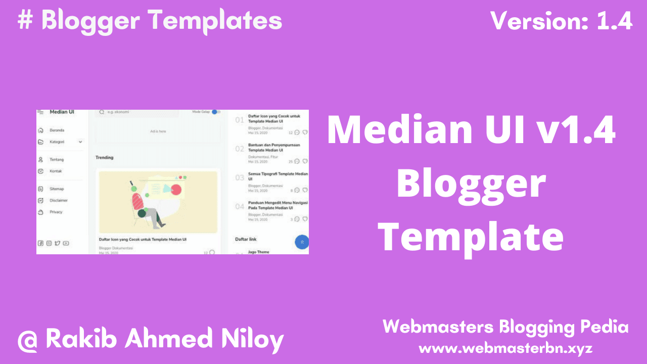 Median UI v1.4 Blogger Template by Jago Design - Webmasters Blogging Pedia
