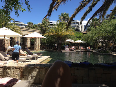 One&Only Cape Town, pool area, view towards the pool
