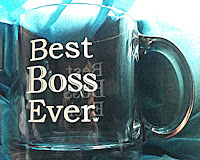 Best Boss Ever Glass Mug