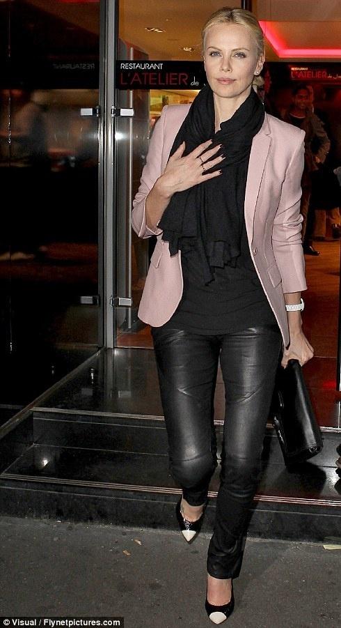 Style Inspiration: Leather and Olivia Palermo - Lake Shore ...