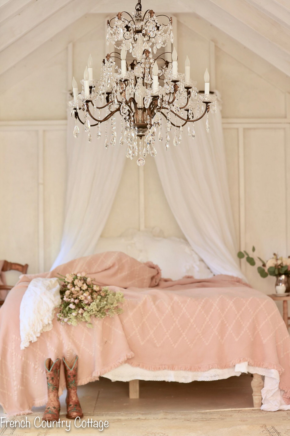 A romantic inspired bedroom - FRENCH COUNTRY COTTAGE