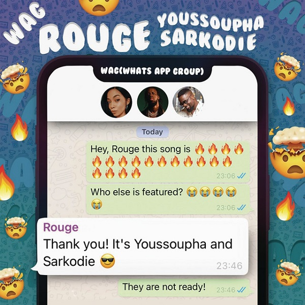 MP3 DOWNLOAD: Rouge – WAG Ft. Sarkodie, Youssoupha