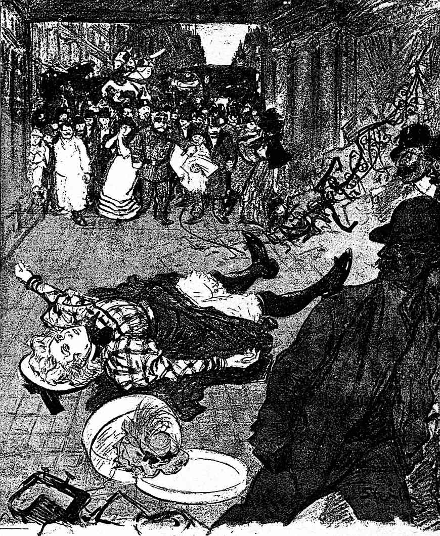 Theophile-Alexandre Steinlen, an accidental death in public