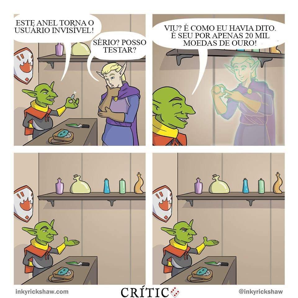 Depois dizem que os Goblins que são desonestos