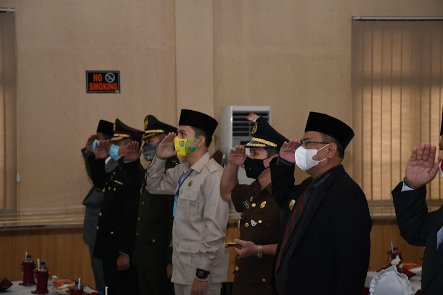 Pjs Bupati Sergai Mengikuti Upacara Peringatan Hari Kesaktian Pancasila Secara Virtual Yang Dipimpin Oleh Presiden Jokowi