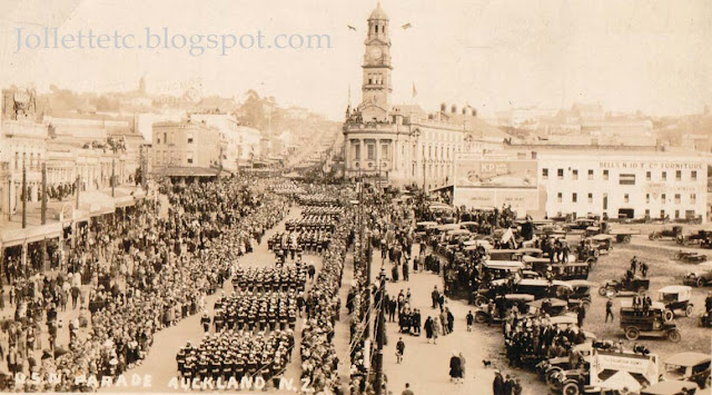 US Navy parade Auckland, NZ 1925 Ray Rucker  https://jollettetc.blogspot.com