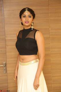 Roshni Prakash in a Sleeveless Crop Top and Long Cream Ethnic Skirt 013.JPG