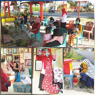 "Lakukan Kegiatan rutin Posyandu Kote ""Sakti"" dan Posyandu ""Cempaka Putih""berkalaborasi di Desa Kote kecamatan Singkep Pesisir"
