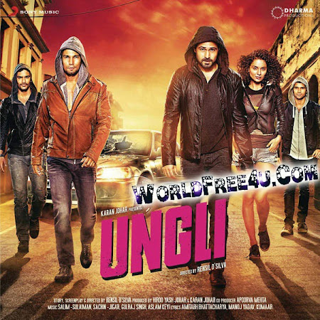 Poster Of Bollywood Movie Ungli (2014) 300MB Compressed Small Size Pc Movie Free Download worldfree4u.com