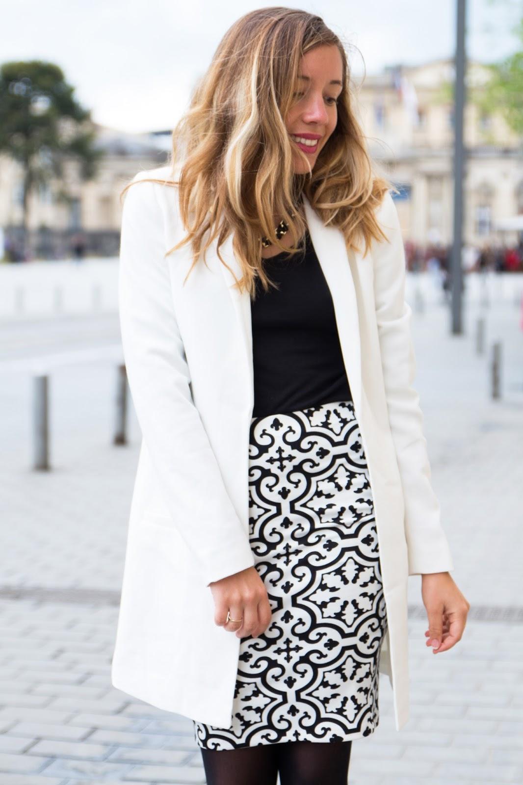 blazer long blanc