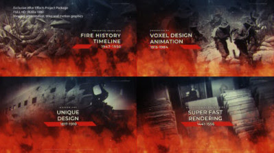 Projects - VideoHive - Fire History Timeline - 27857815 / Motion Array - Fire History Timeline - 754857 [AEP]