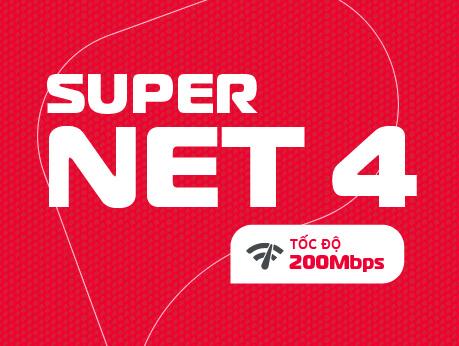 Internet cáp quang Viettel gói Supper NET4