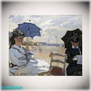 Claude Monet - The Beach at Trouville