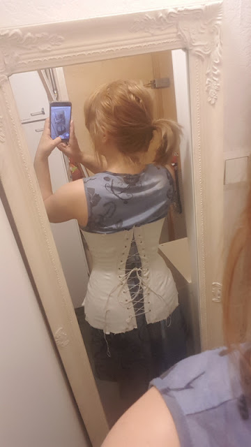 first fitting with a mirror selfie so the back is visible