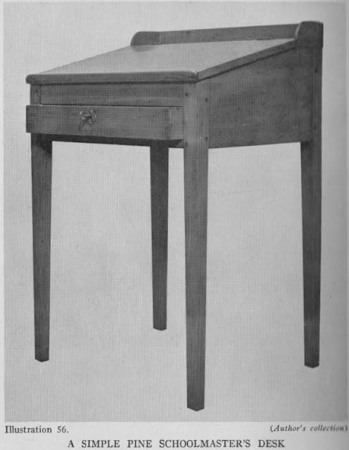 Pine Schoolmaster's Desk 1800's