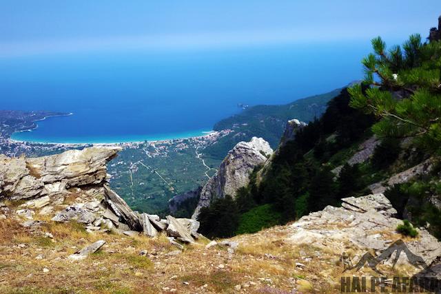 belvedere aproape de vârful muntelui Ypsarion
