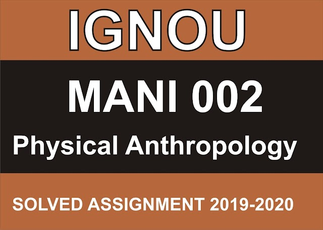 MANI 002 Solved Assignment