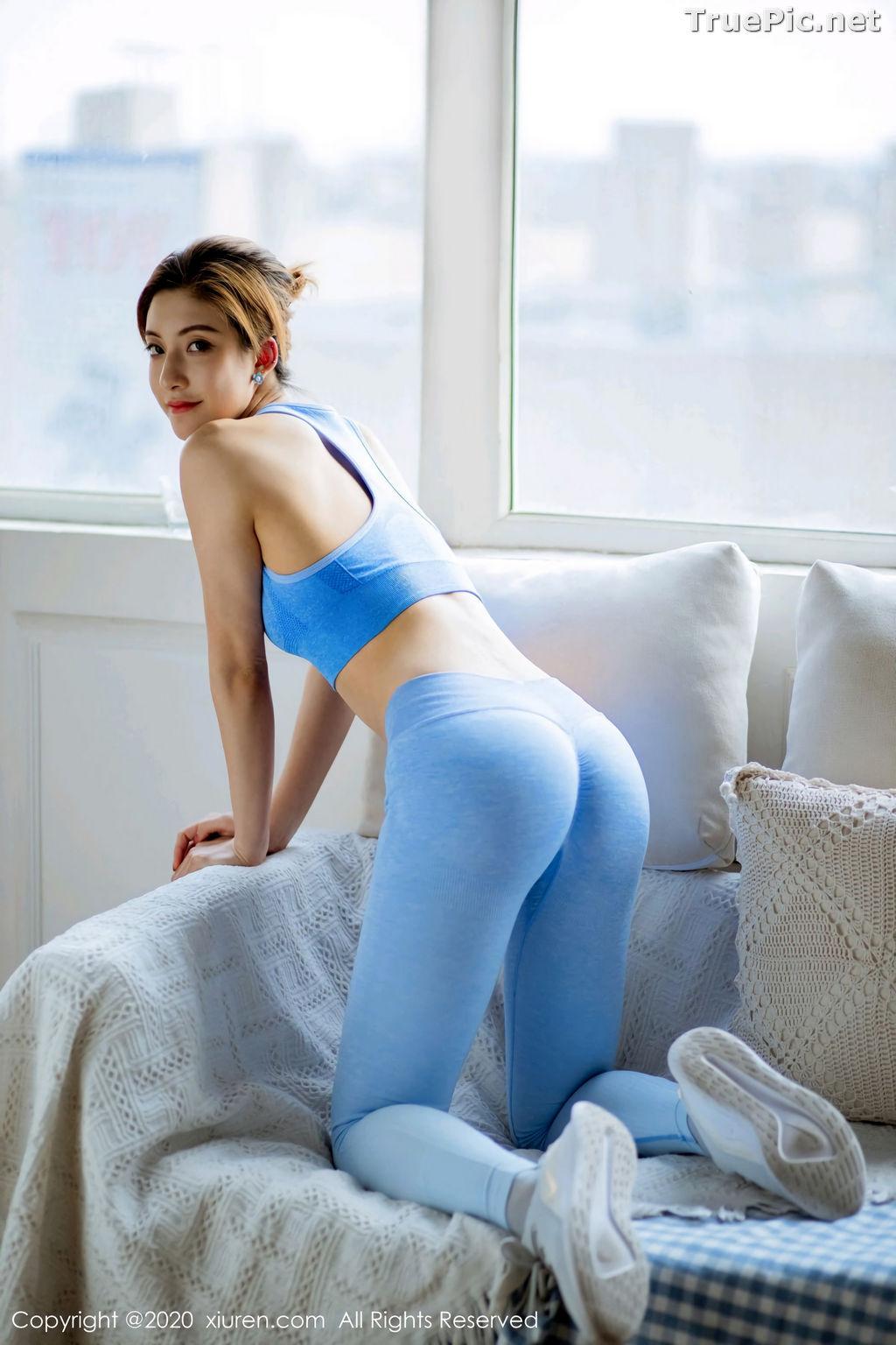 Image XIUREN No.2316 - Chinese Model 林文文yooki - Sexy Blue Fitness Set - TruePic.net - Picture-3