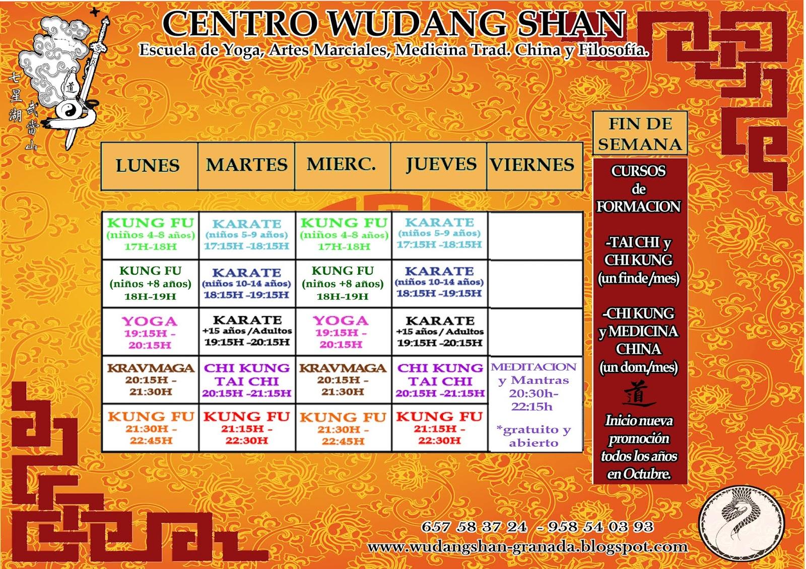 Calendario Ugr 2020.Centro Wudang Shan