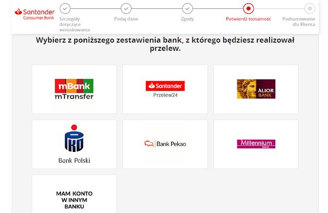 Z jakiego banku wykonać przelew weryfikacyjny w celu otwarcia rachunku oszczędnościowego w Santander Consumer Banku