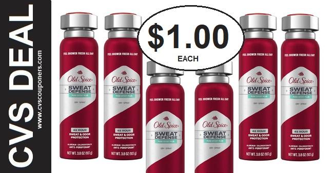 Old Spice Dry Spray CVS Deal $1.00 1-26-2-1
