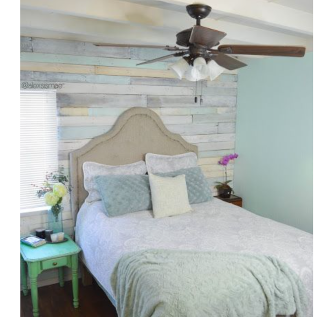 colorful wood pallet accent wall inspiration