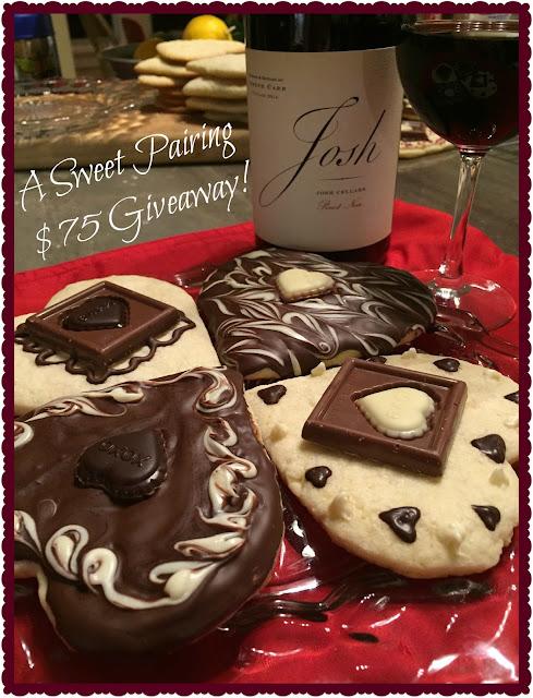 Josh Cellars wine and Ghirardelli sugar cookies!
