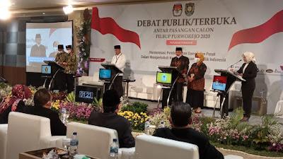 Debat Sengit, Paslon 01 dan Paslon 03 Debatkan Pendidikan Gratis di Purworejo