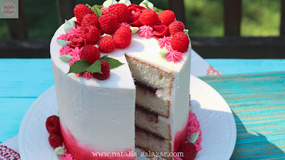 Raspberry cake tutorial