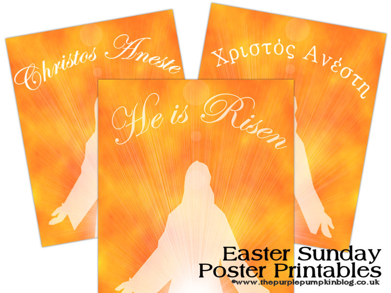 Easter Sunday Posters – He Is Risen – Christos Anesti – Free Printable