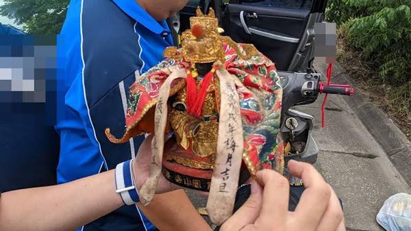 鹿港鳳山寺百年廣澤尊王神像遭竊 鹿港警察一日破案