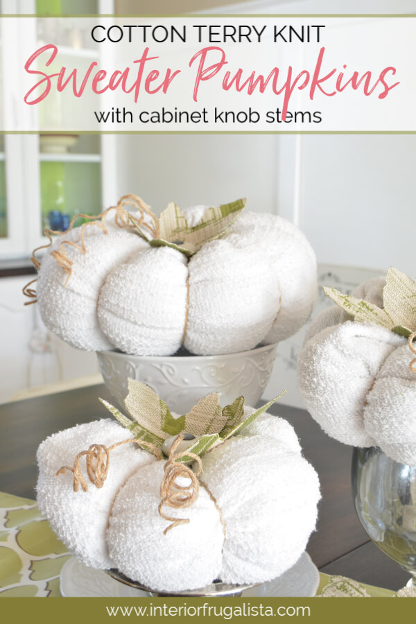 Recycled Sweater Pumpkins For Fall