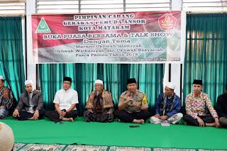 GP Ansor Mataram Bersama Kapolres Deklarasi Menolak Referendum Aceh