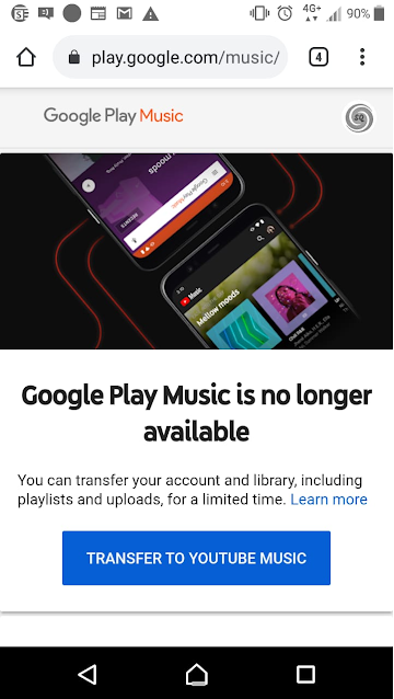 Google play music not available