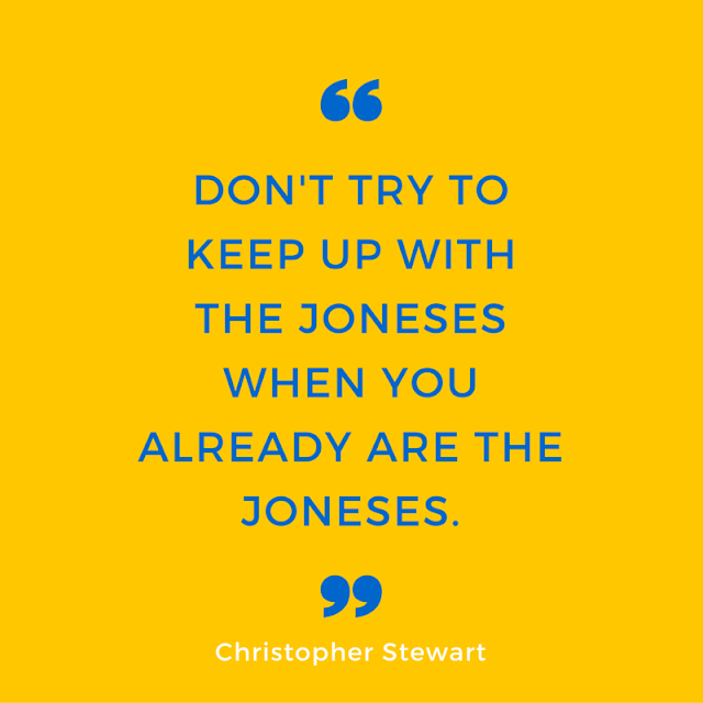 Christopher Stewart, Eating Fabulously, Keeping Up with The Joneses, blogging