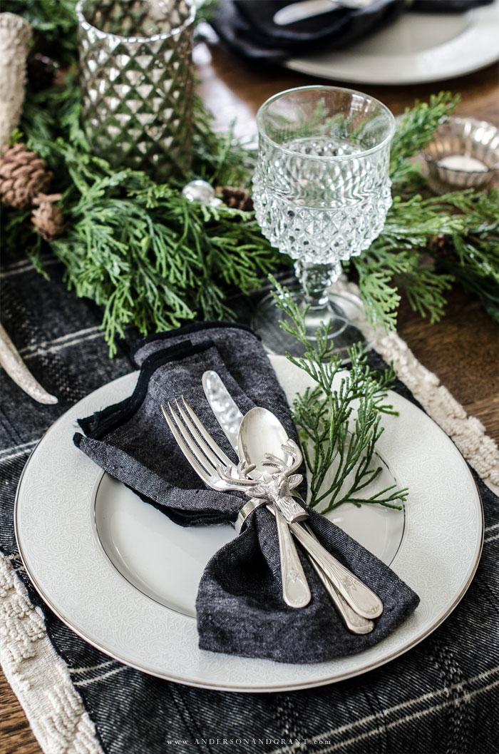Elegant Christmas Dinner Plate