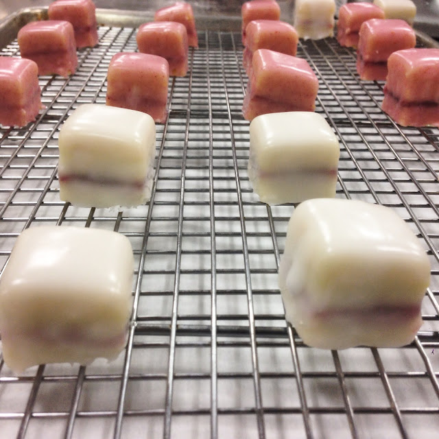 Petits Fours Glace Covered with Poured Fondant