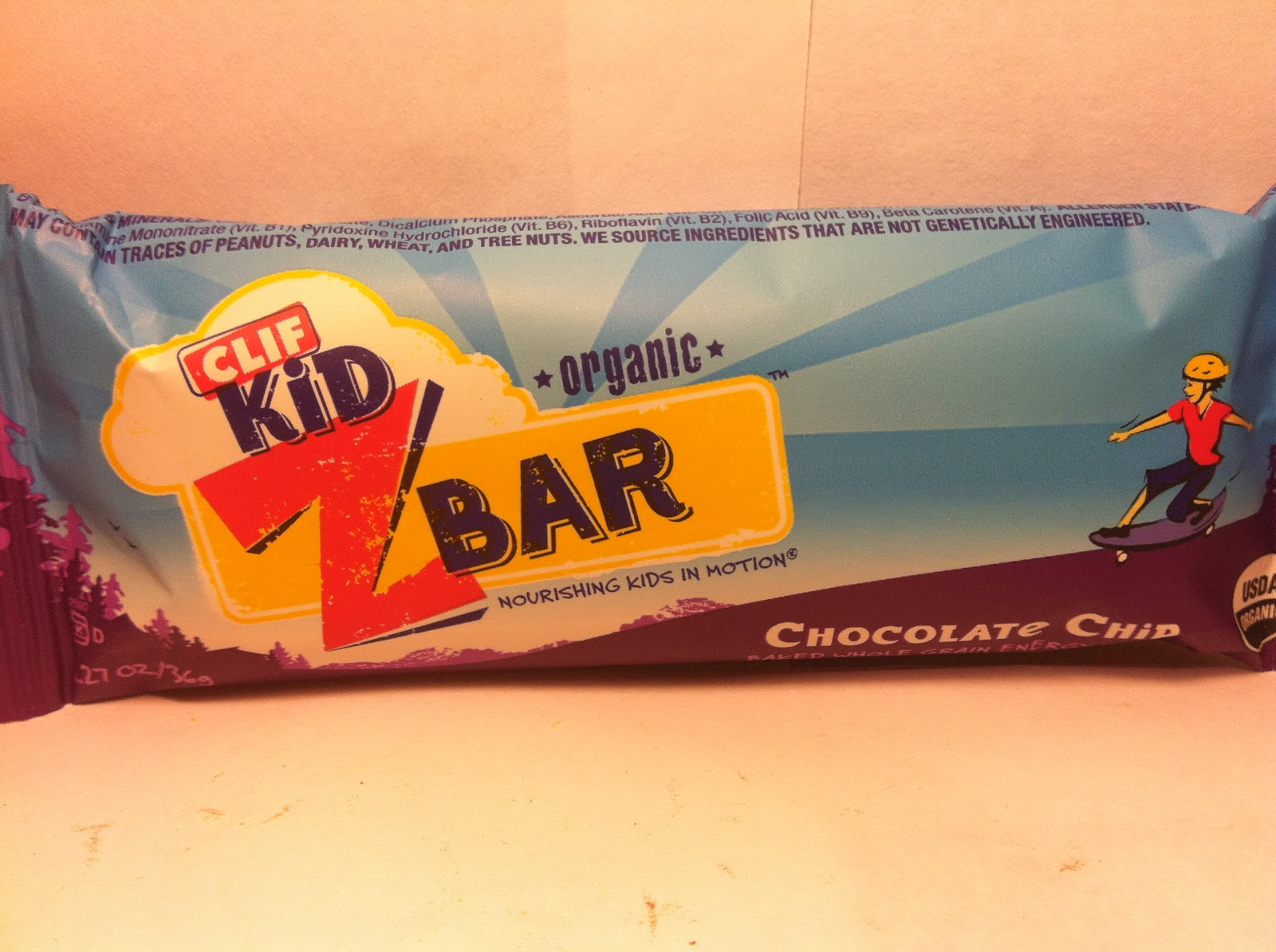 Crazy Food Dude: Review: CLIF Kid Z Bar Chocolate Chip Bar