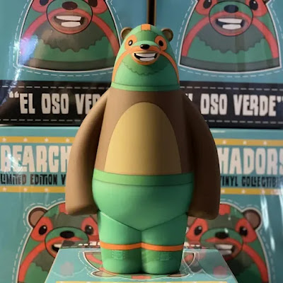 Bearly El Oso Verde Edition Vinyl Figure by Bearly Available x Bimtoy