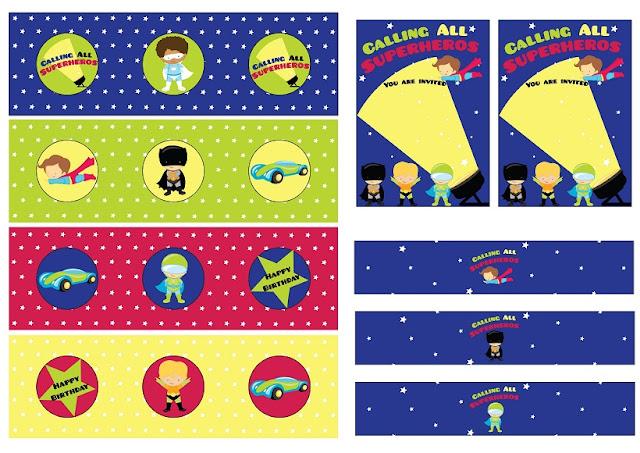 ¡Llamando a todos los Super Hëroes! Mini Kit para Imprimir Gratis.