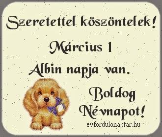 Március 1, Albin névnap