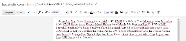 Cara Instal Rom CM11 RC11 Dengan Mudah For Galaxy Y