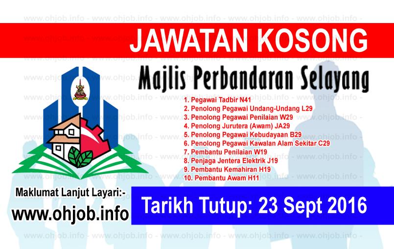 Jawatan Kerja Kosong Majlis Perbandaran Selayang (MPS) logo www.ohjob.info september 2016