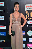 Lerisa Bonisa in a Sleeveless Deep neck Golden Gown ~  Exclusive 029.JPG