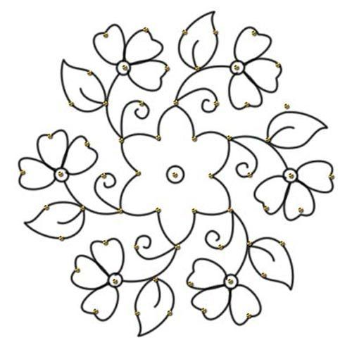 flower dot rangoli design for practice